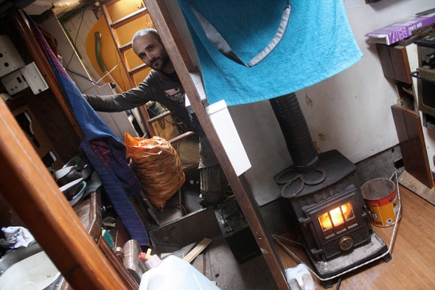 Due to wonk, the fire has to be tied to the wall with rope and RIchard has to be stashed in the aft cabin.